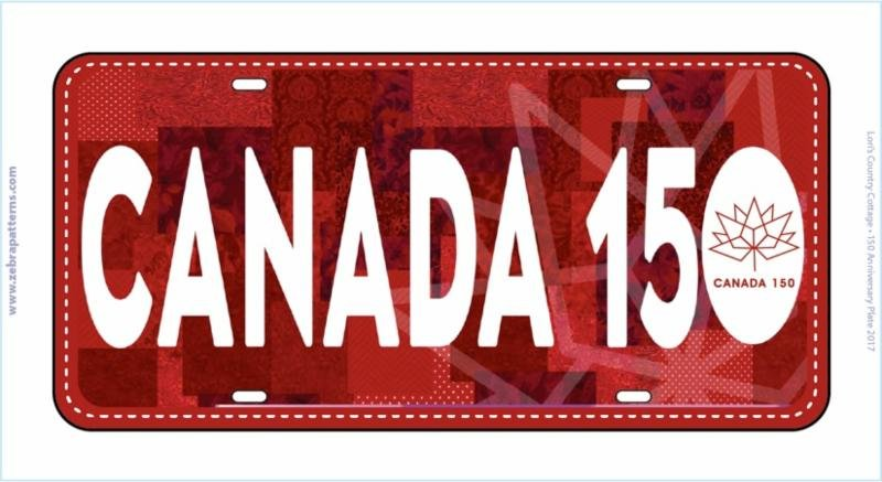 RxR Canada 150 Licence Plate