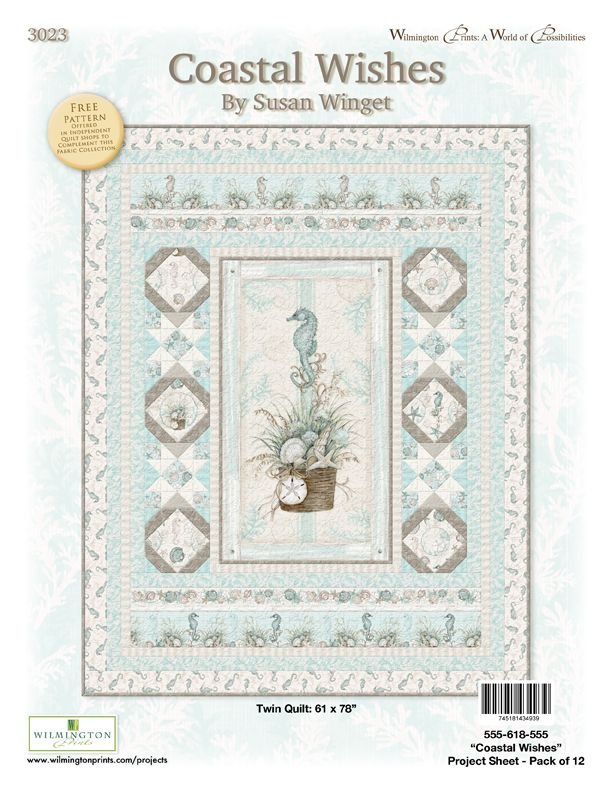 Coastal Wishes Twin Quilt
