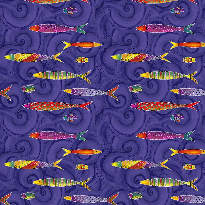 Sea Goddess Y2600-28M Dark Purple Fish W/Metallic