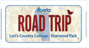 Road Trip Licence Plate