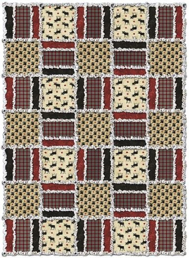 Oh Canada Flannel Rag Quilt