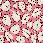Pink 1930's Leaves aunt grace classics 1419-0326