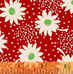 Red Daisies on Seals feedsack VI  30911-1