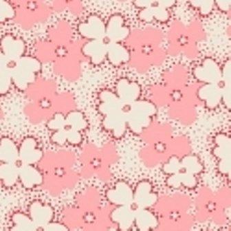 Pink Stippled Flowers feedsack VI  30912-2
