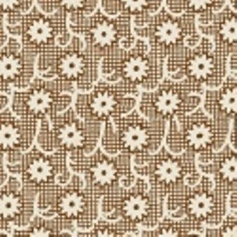 Brown Flowers on Netting feedsack VI 30913-8