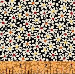 Black Packed Ditzy Flowers feedsack 6 30917-9