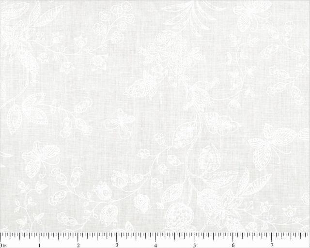 Quilt backing 108' White on White  QB59