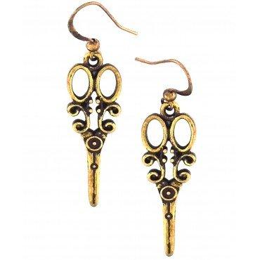 Scissor Earing Gold 77-002EG