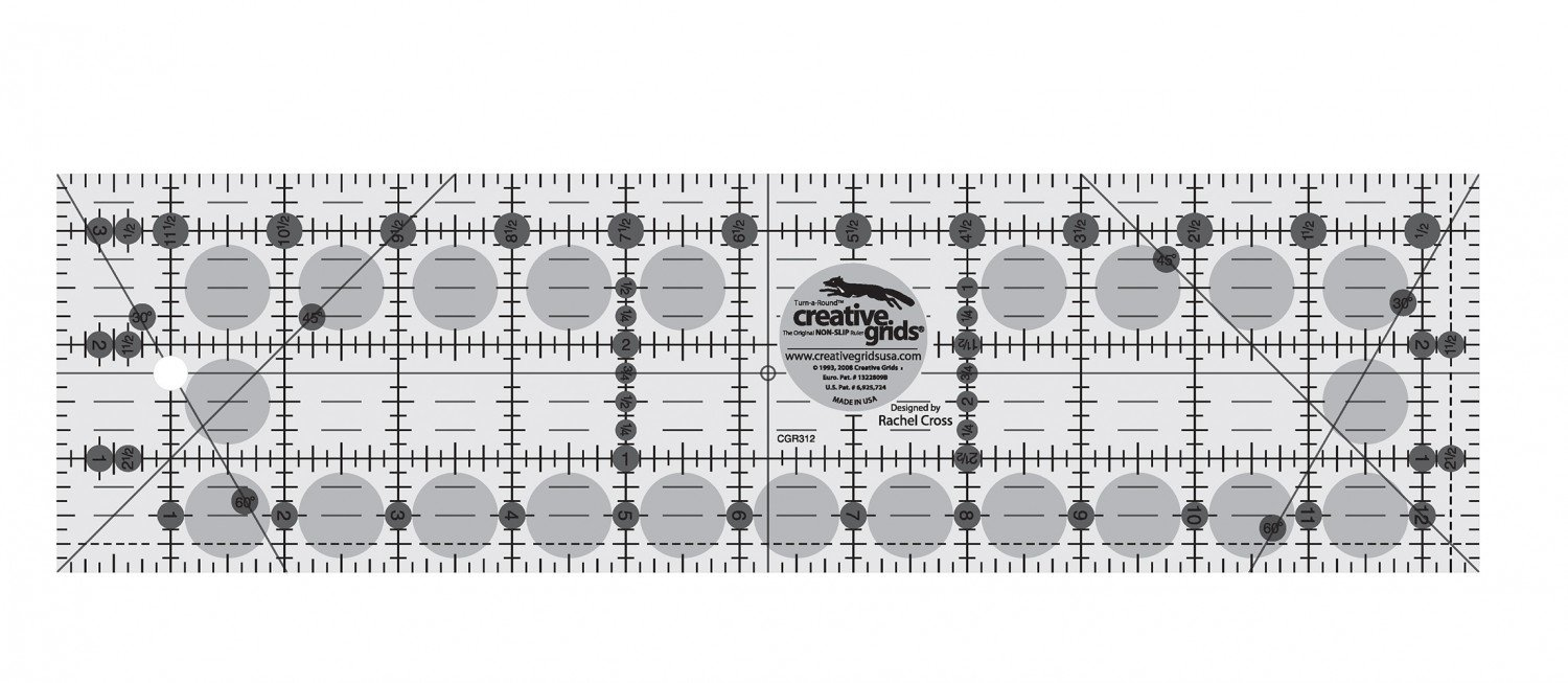 Creative grids Ruler 3.5 by 12.5   cgr312