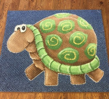Chenilled panel 717 Turtle Rug