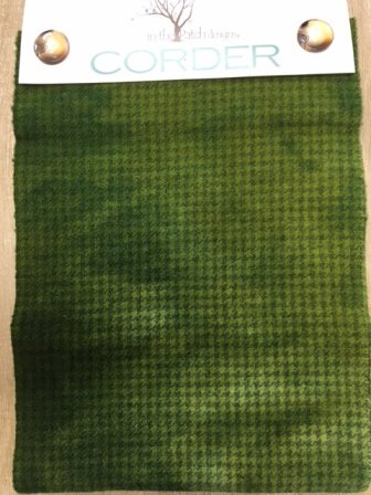 Corder Yard Hand Over Dyed Felted Wool Avocado Plaid