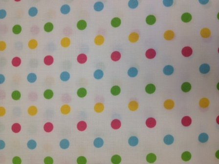 4491-5c/1 Nursey Dots whit/Pastels