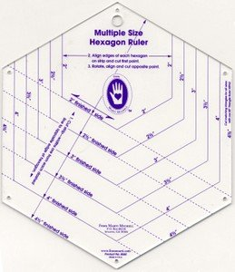 multi size hexagan ruler  mm8060