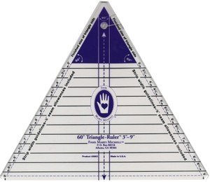 Equilateral Triamgle Ruler  lg  3''-9   mm8963