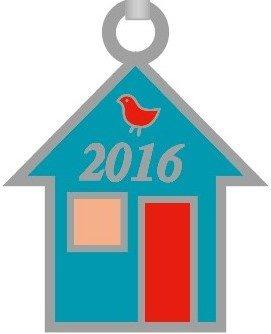 Row by Row 2016 House Pin Logo Charm 18123