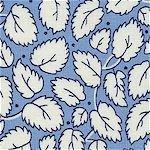 Blue 1930's Leaves aunt grace classics 1419-0350