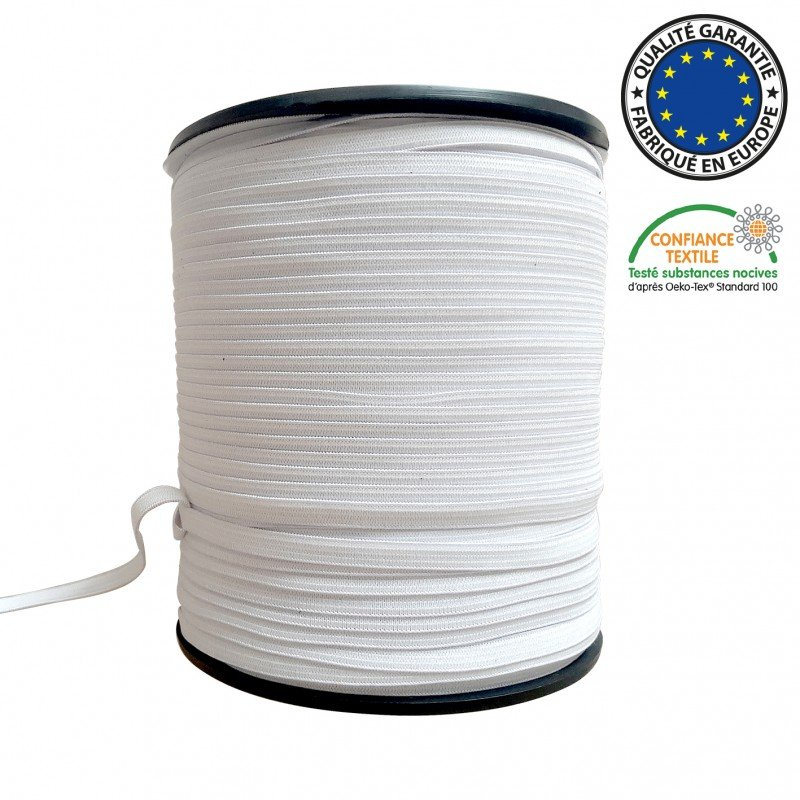 Knit elastic 1/4 white (soft)