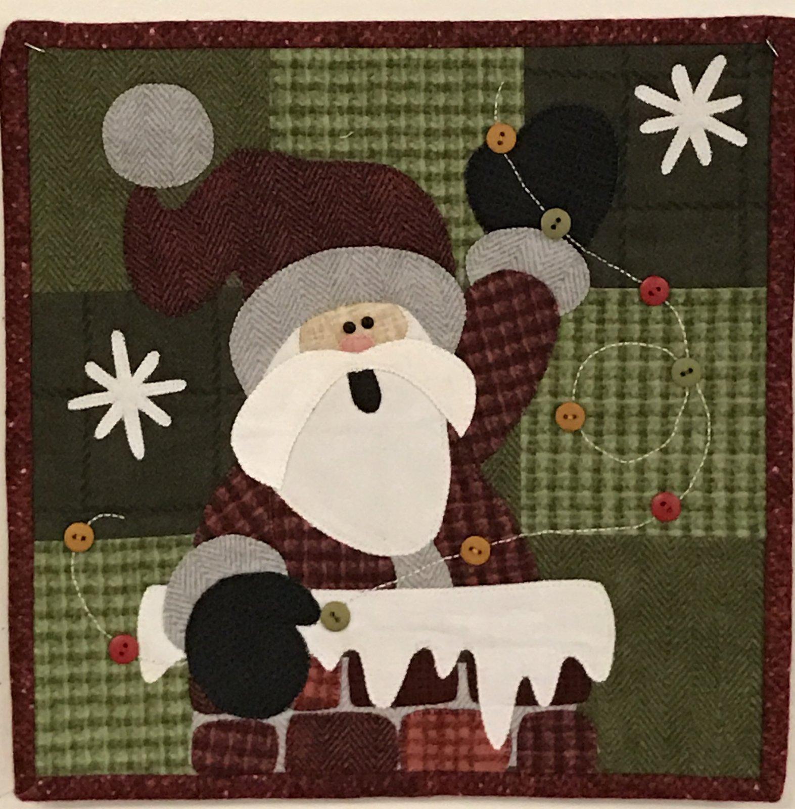 Calendar Series December - Rooftop Santa