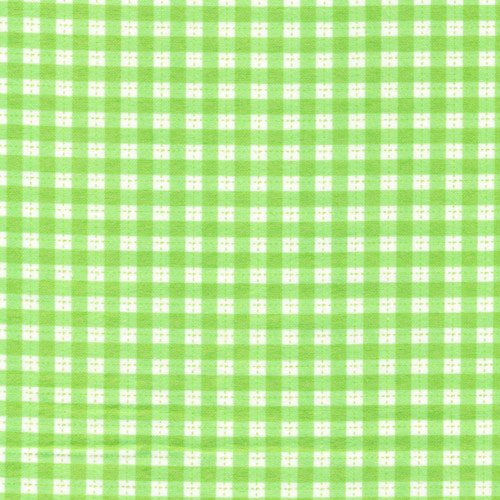 Gingham Green Flannel