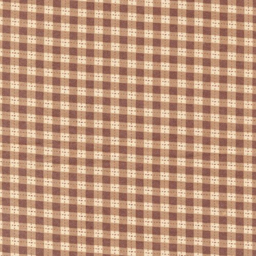 Gingham Brown Flannel
