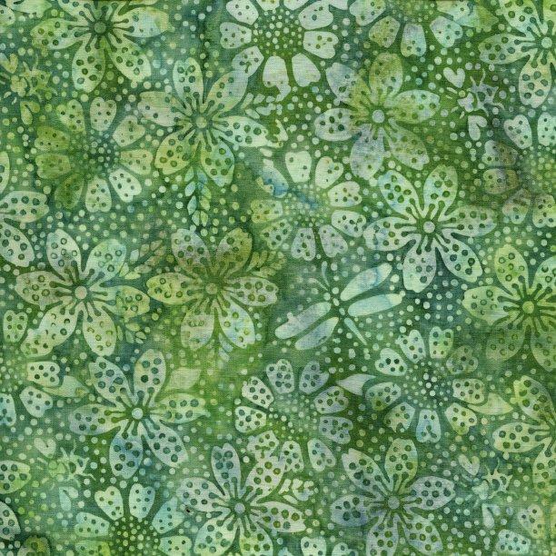 Batiks Sweet Treats Chameleon Floral Dot