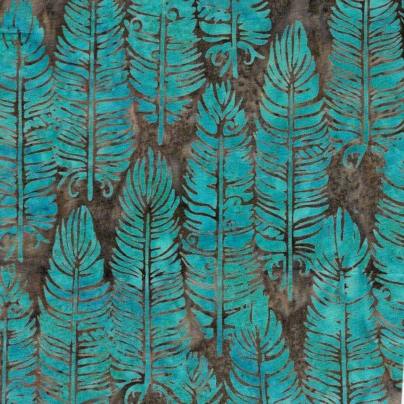Batiks Santa Fe Vert Feather Turq