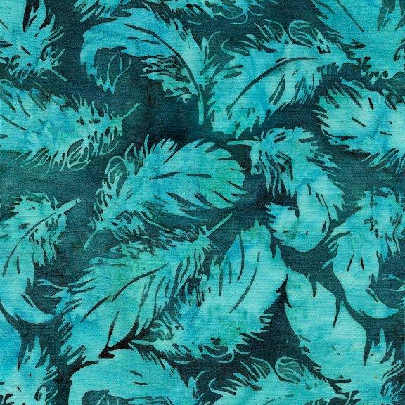 Batiks Santa Fe Tosd. Feather-Dk Lagoon