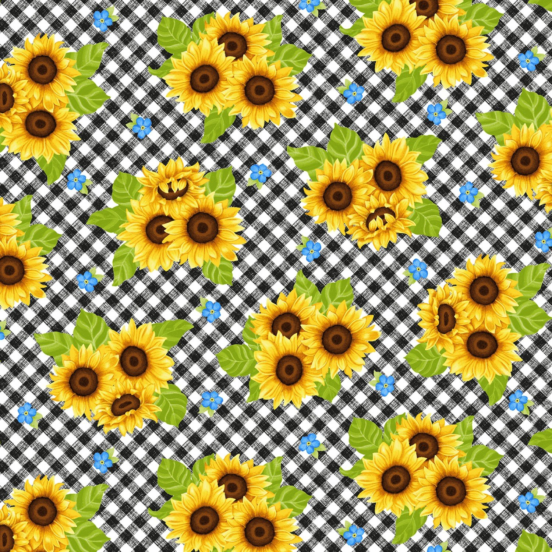 Sunny Sunflowers w/ checks