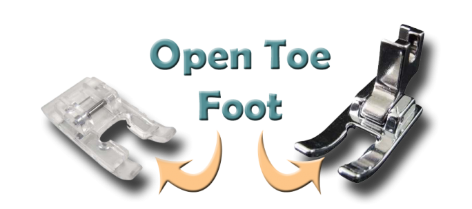Examples of an Open Toe Foot for Sewing Machines