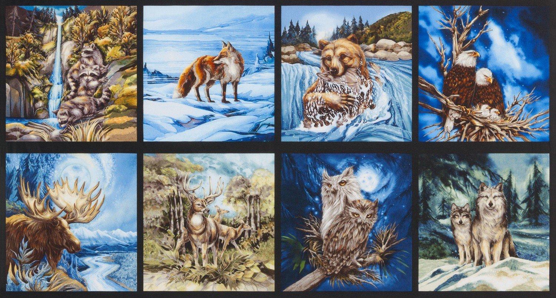 N Amer Wildlife Panel Earth