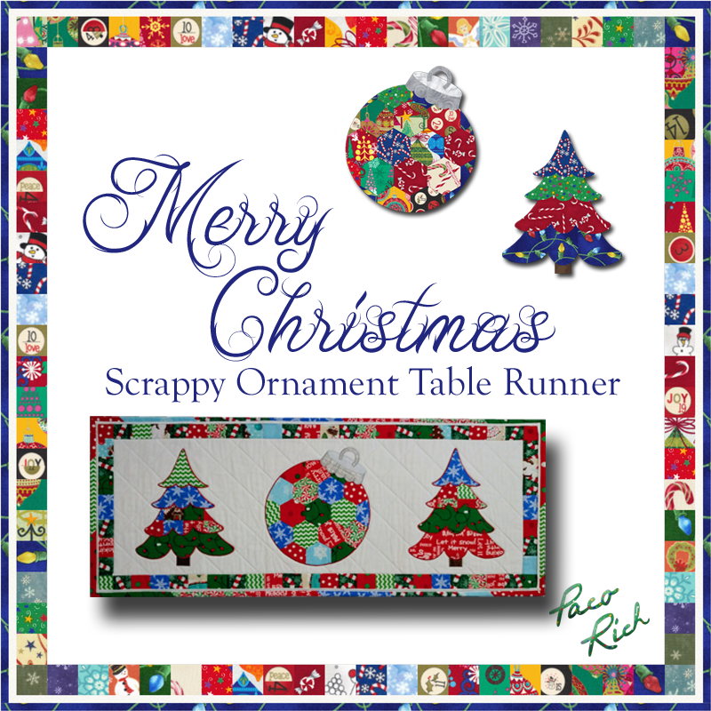 Scrappy Ornament Table Runner Pattern