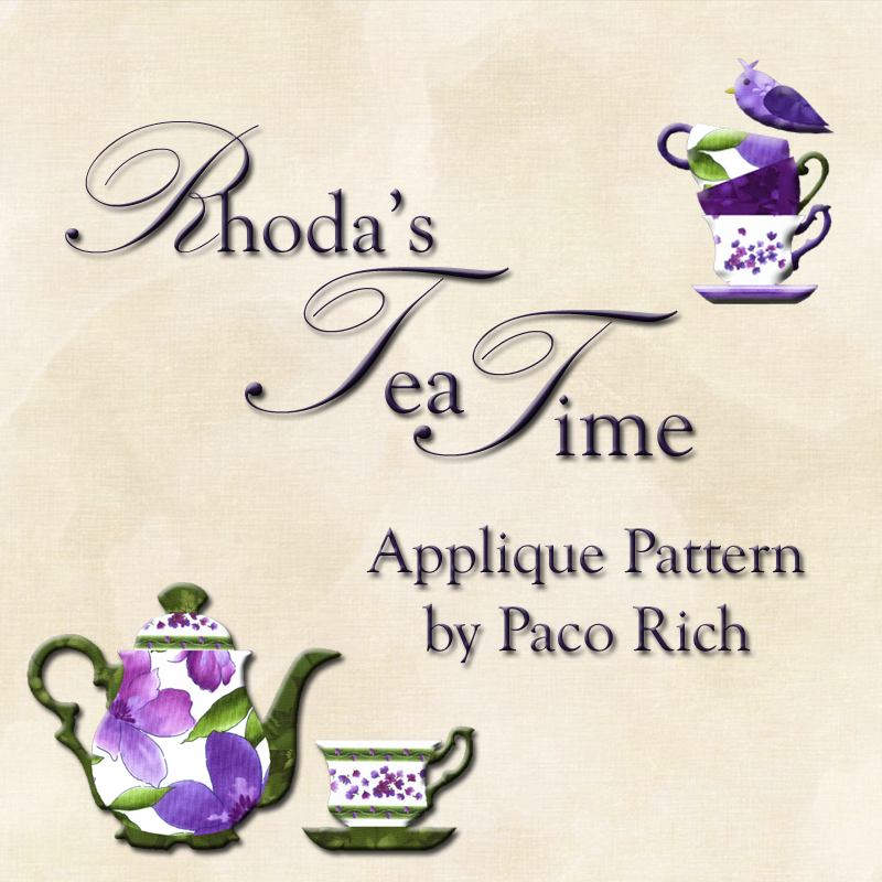 Rhoda's Tea Time Applique Pattern