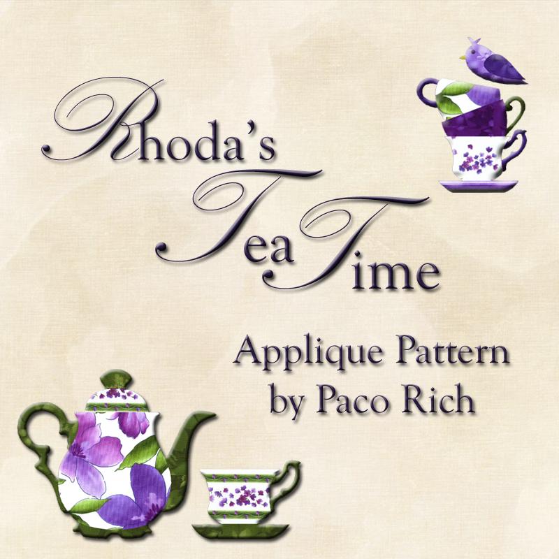 Rhoda's Tea Time Applique Pattern Digital Download