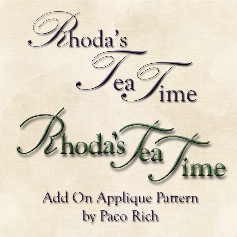 Rhoda's Tea Time Words Add-On - Printed