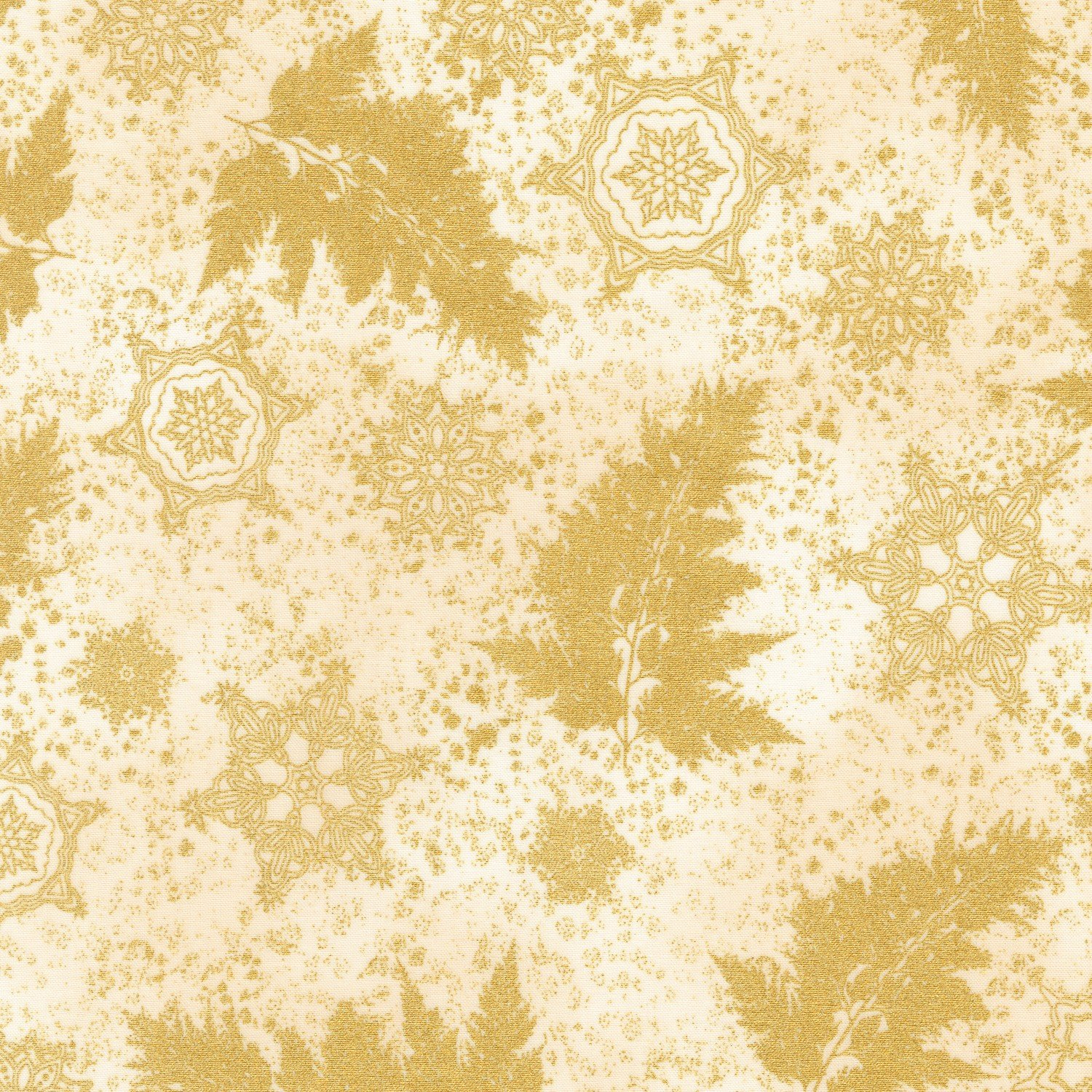 Holiday Flourish Metallic 12 Ivory
