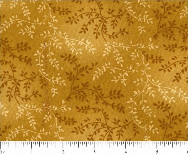 Quilt Back 108 Gold Leaves