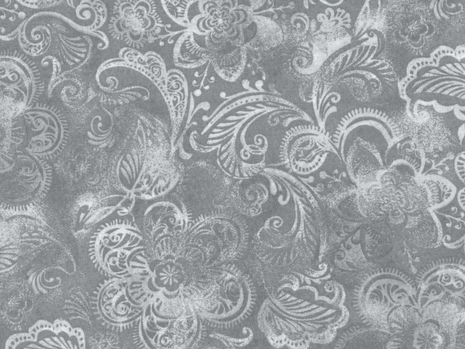 Quilt Back 108 Gray Floral