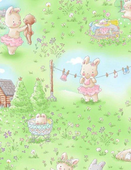 Multi Bunny & Friends Toile