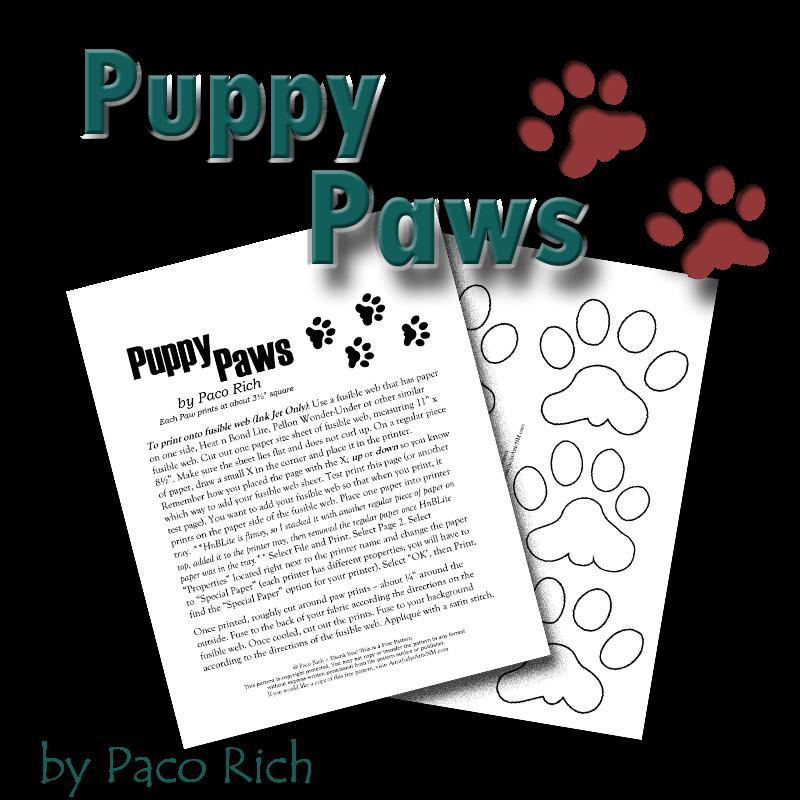 Puppy Paws Applique