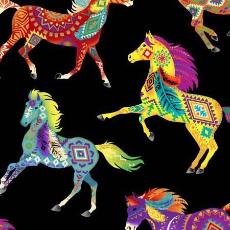 West Painted Ponies Bright