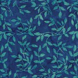 Island Batiks Leaf-Blue and Turquoise 121508235