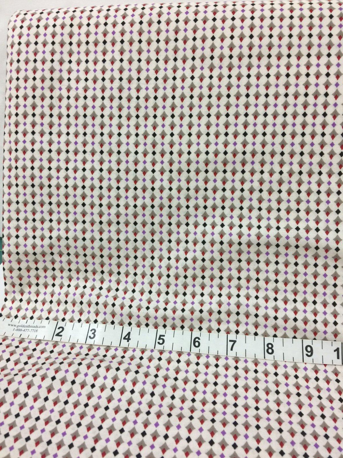 Red/Black/Purp. Diamonds Fabric