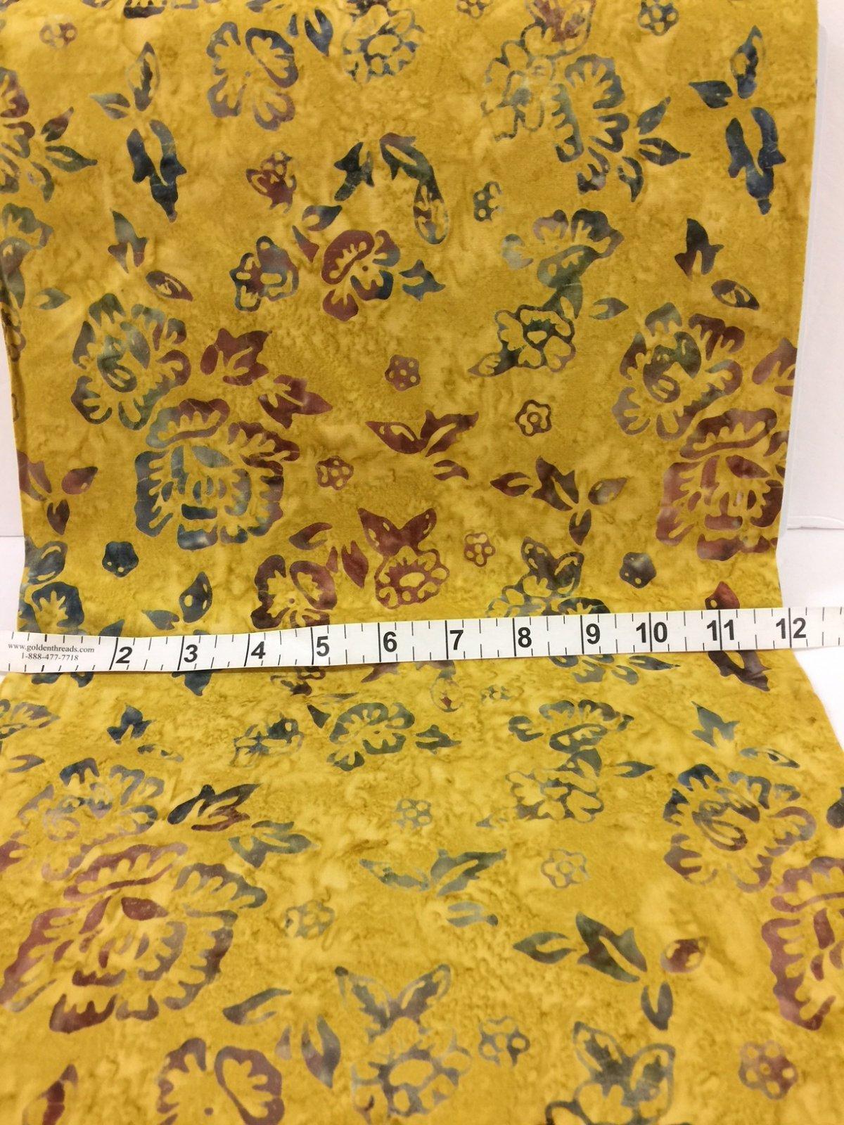 Komo Batiks Gold Floral