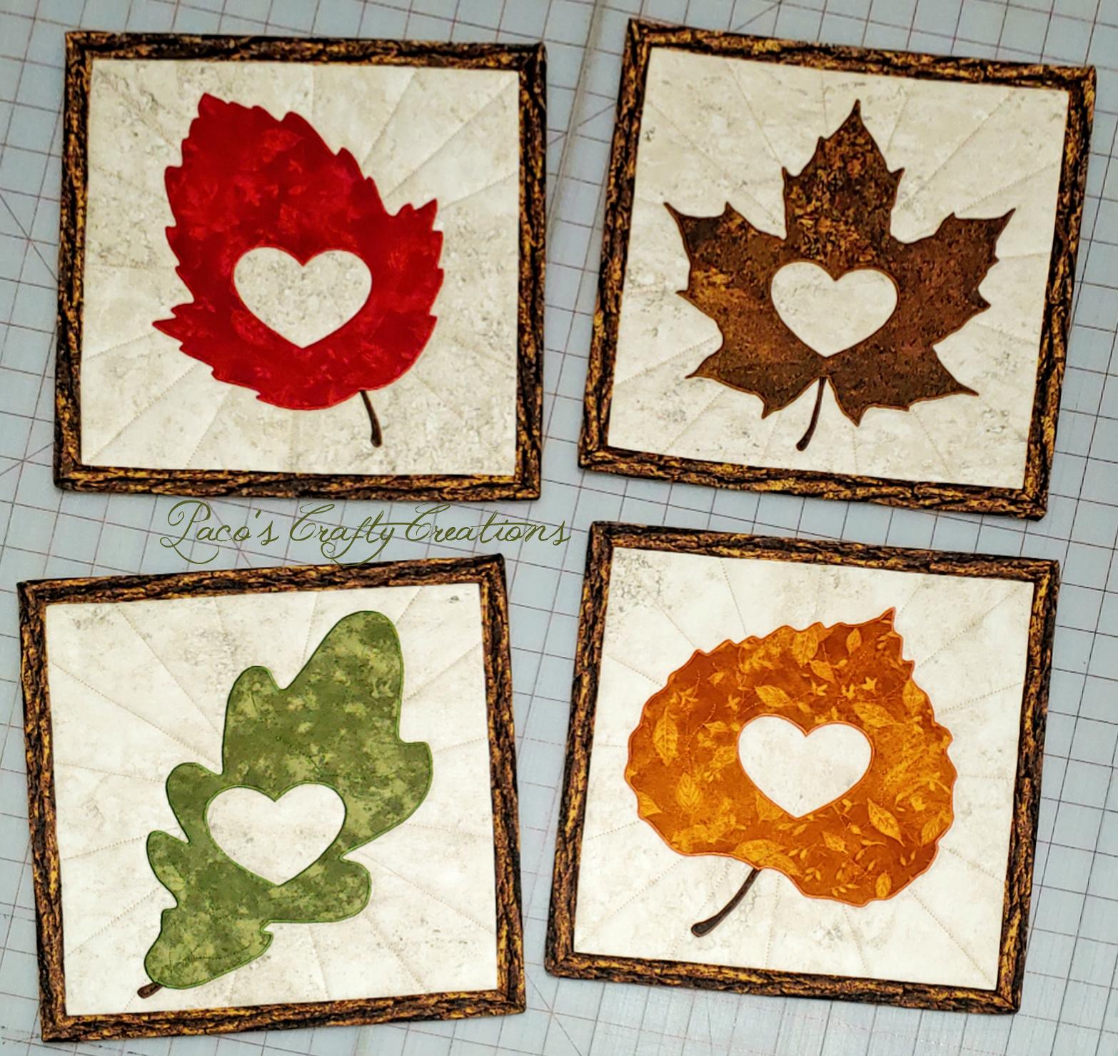 Leafy Love Applique Templates