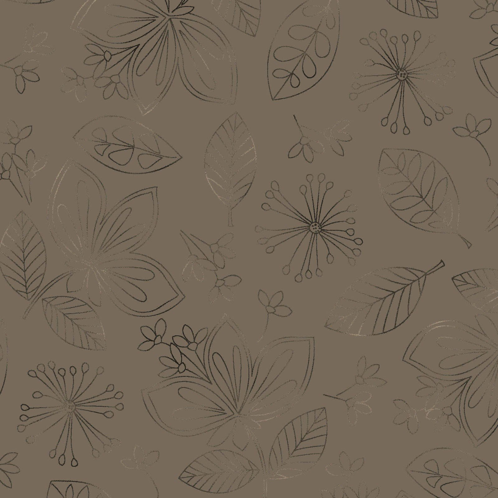 Taupe Wild Flowers Pearlized