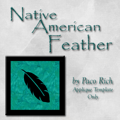 The Feather Applique Digital Download
