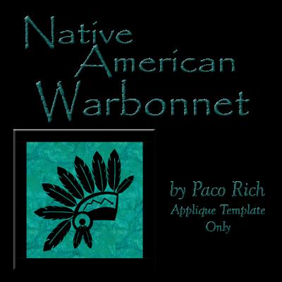Warbonnet Applique Digital Download