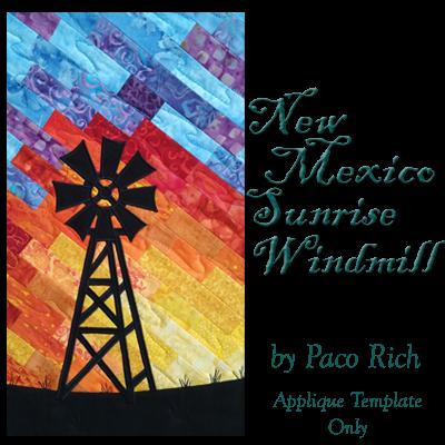 New Mexico Sunrise Windmill Applique Digital Download
