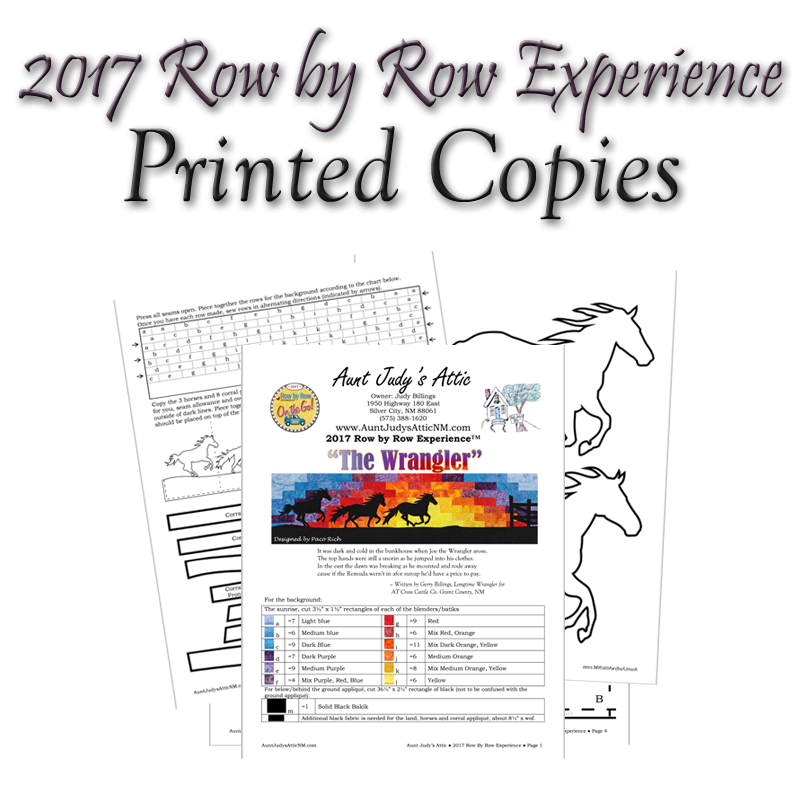 Row x Row 2017 Printed Pattern Only