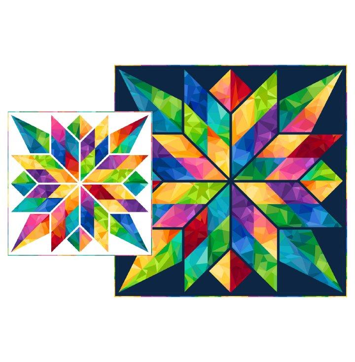 Bold Beautiful Stars & Circles Pattern